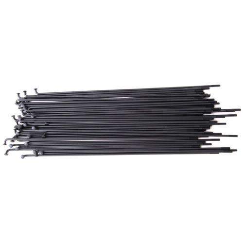 Vocal Straight Guage Spokes - 182mm - Black